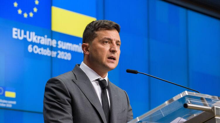 Президент Владимир Зеленский может похвастаться успешным для себя саммитом ЕС-Украина, фото: president.gov.ua
