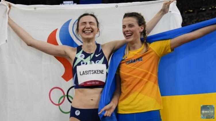 Мария Ласицкене и Ярослава Магучих. Кадр из видео Новости сегодня