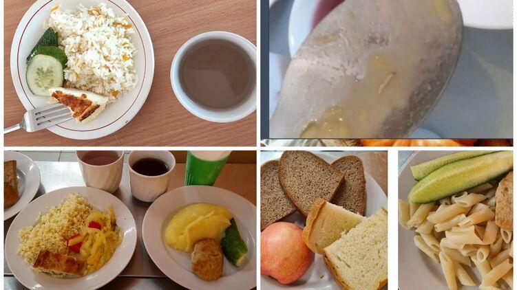 Как изменилось питание школьников в этом году. Коллаж