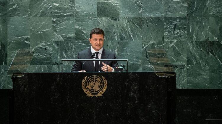 Владимир Зеленский в ООН. Фото Офиса президента
