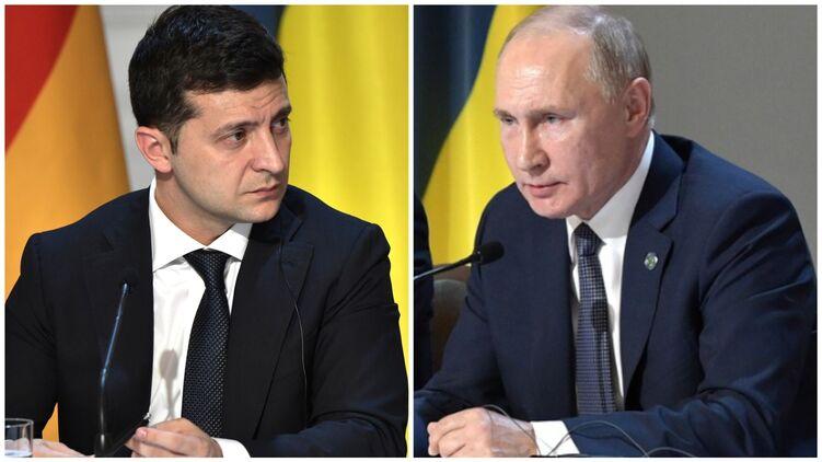 Зеленский и Путин не могут встретиться уже полгода. Коллаж