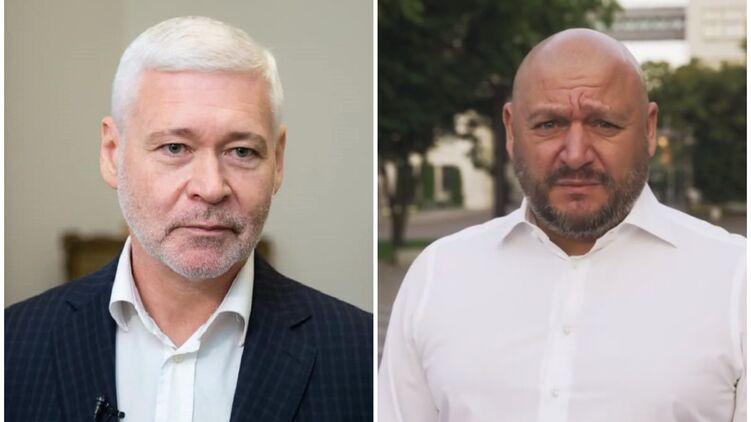 Секретарь Харьковского горсовета Игорь Терехов (слева) и Михаил Добкин (экс-мэр Харькова)